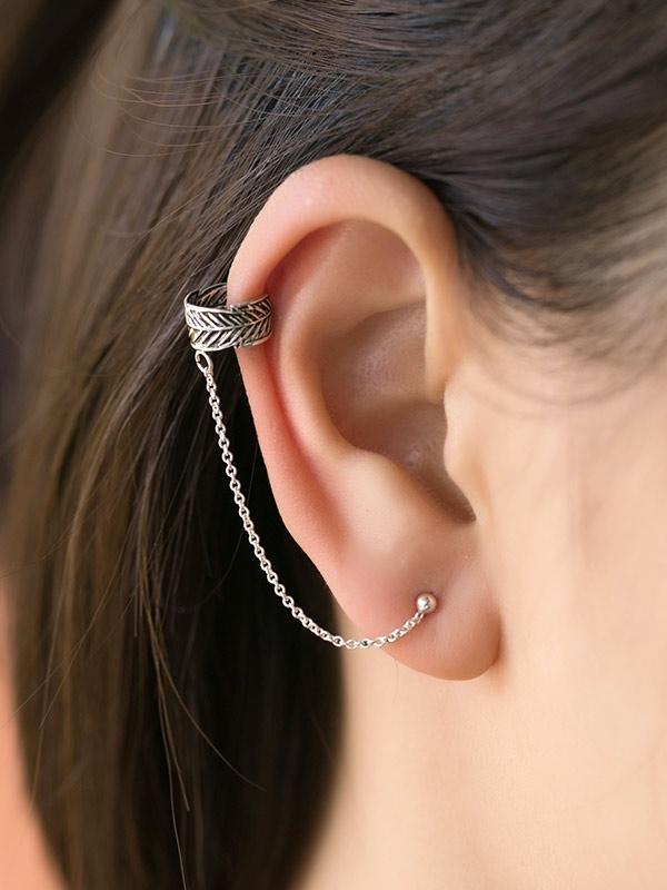 Feather Ear Cuff Studs