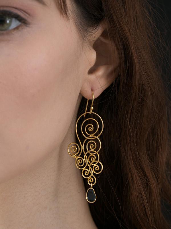 Spiralstone Earrings