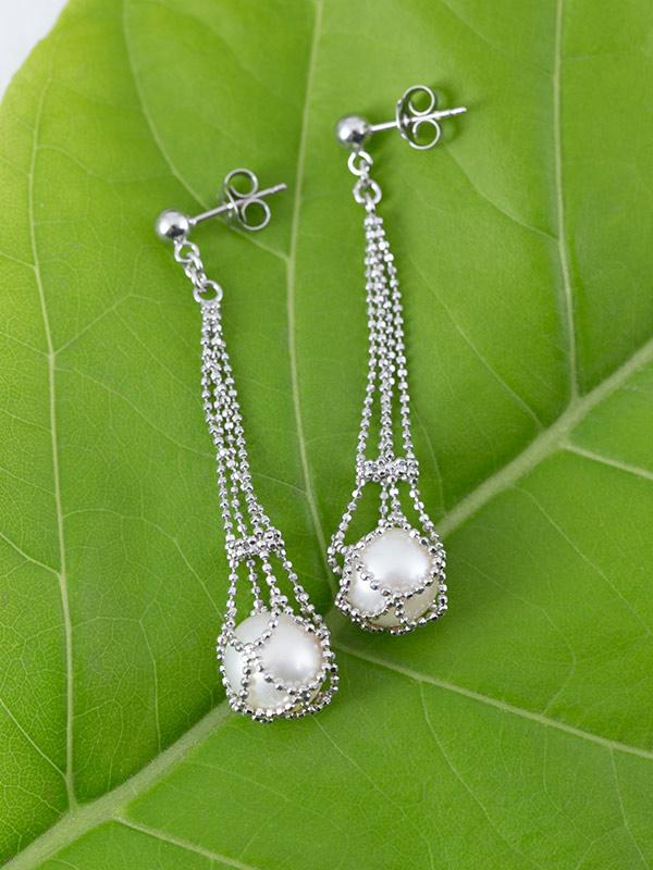 Pearl Sling Earrings