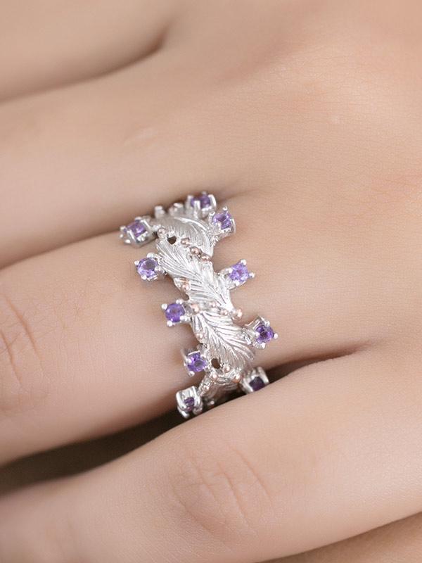 Violet Vine Ring