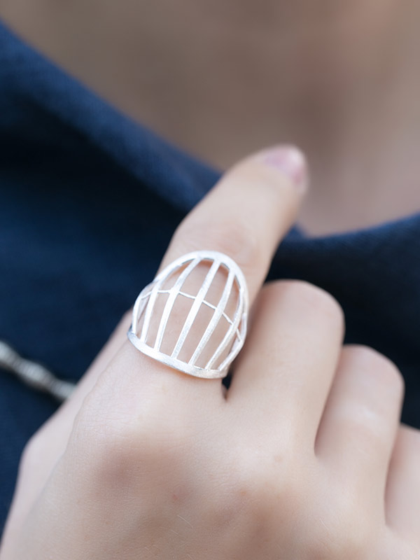 Silvercage Ring