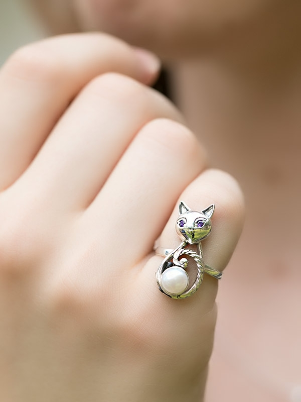 Happy Cat Ring