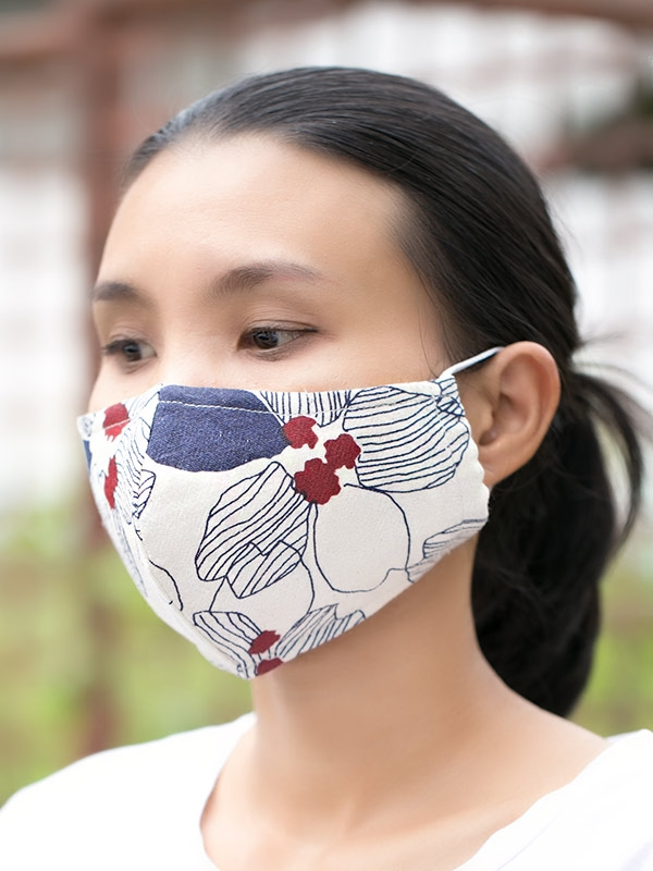 Soft Cotton Triple-layer Fabric Mask