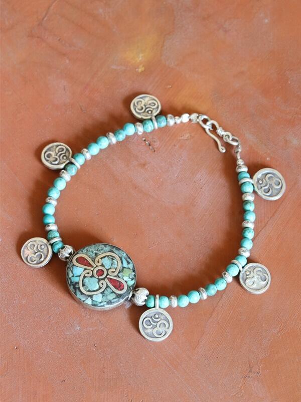 Om coin Bracelet
