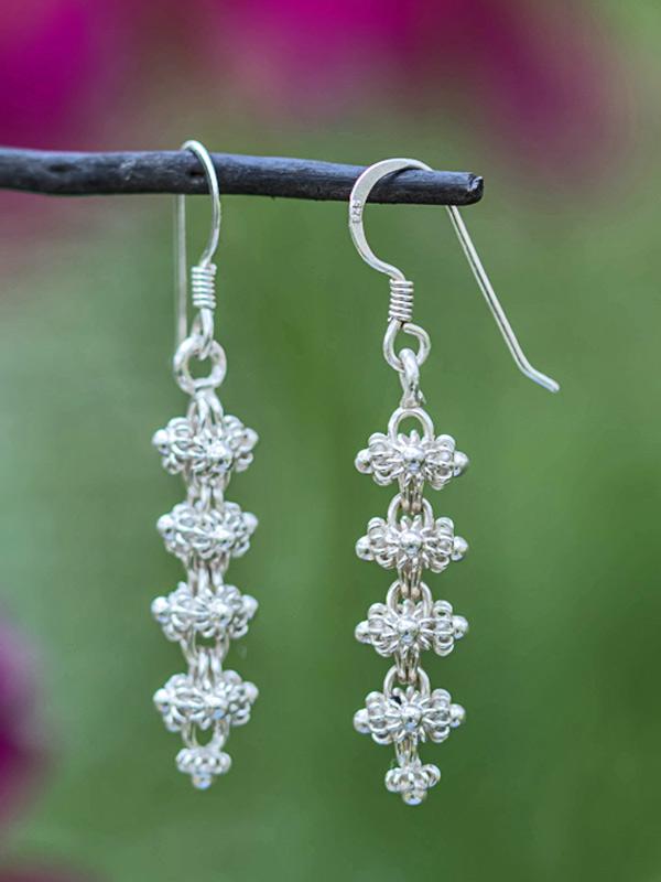 Stacked Star Gooseberry Earrings