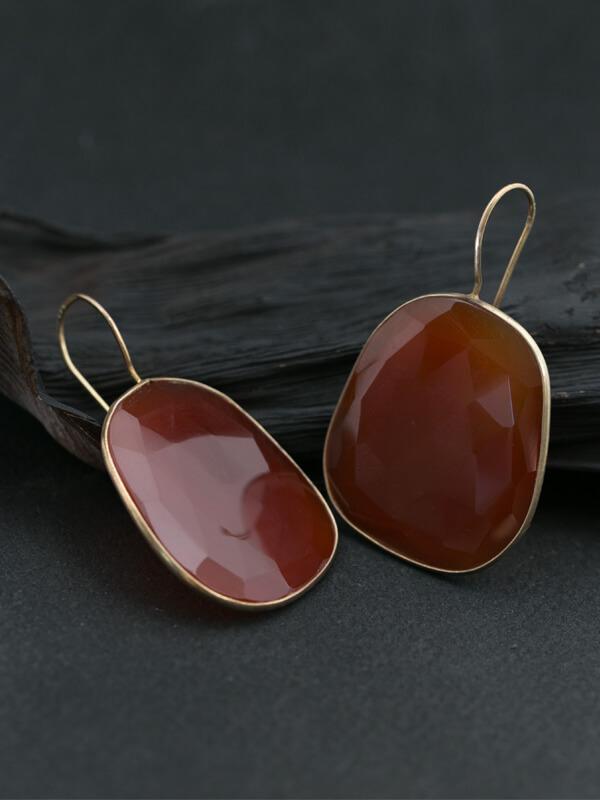 Amber Gold Earrings