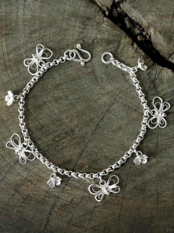 Blossom Butterfly Charm Bracelet