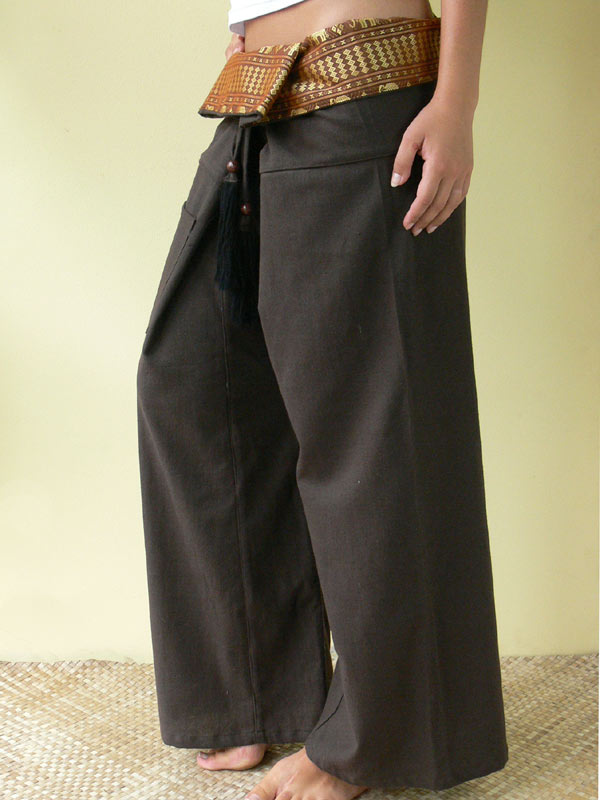 Cotton Thai Tie Pants