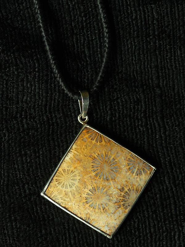 Diamond Coral Goldenrod Pendant