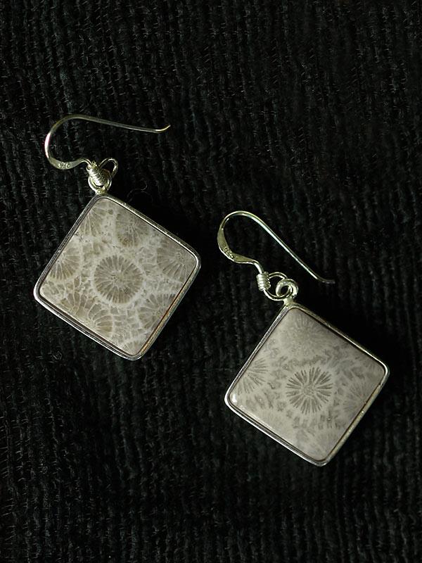 Diamond Coral Earrings