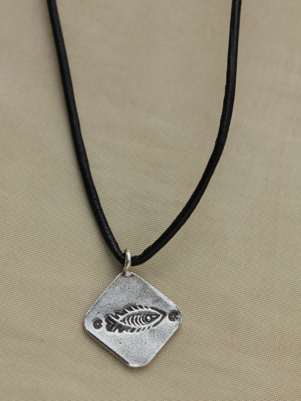 Fishbone Stamp Pendant