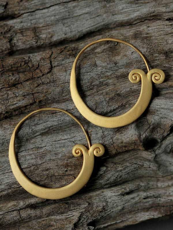 Golden Lotus Bloom Earrings