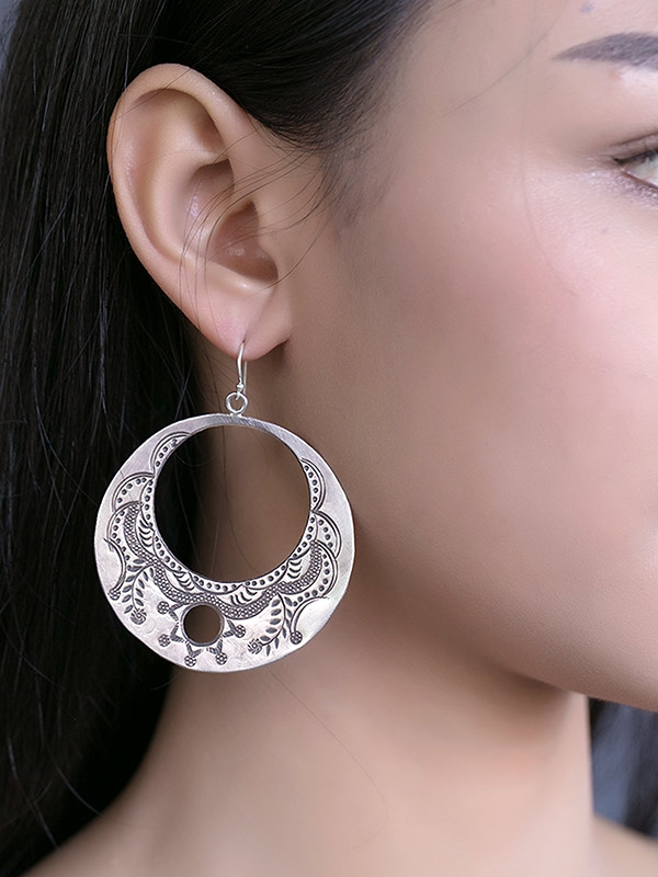 Engraved Eclipse Earrings