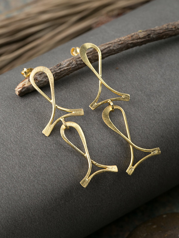 Pisces Gold Studs