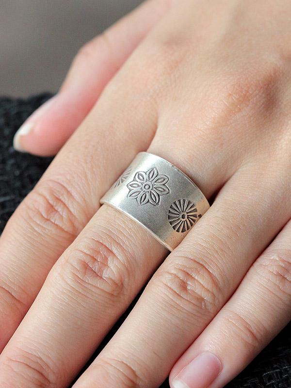 Flower Fossil Ring