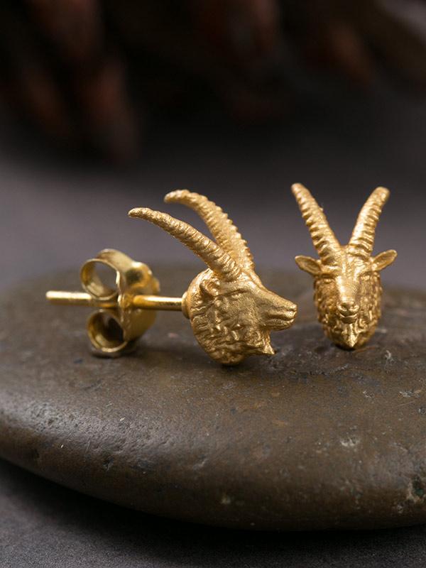 Rhebok Gold Studs