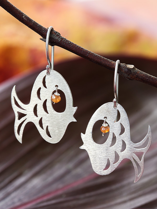 Puffer Fish Earrings