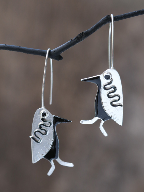 Tuxedo Penguin Earrings