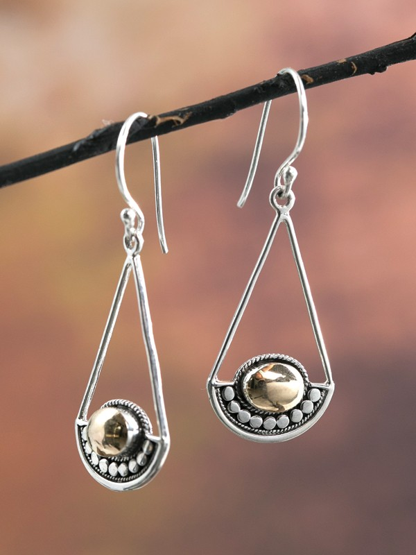 Silver Sling Earrings