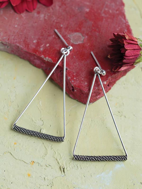 Rope Triangle Earrings