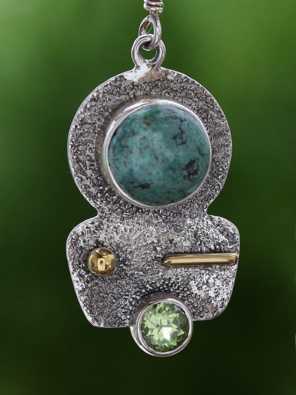 Turquoise Totem Pendant
