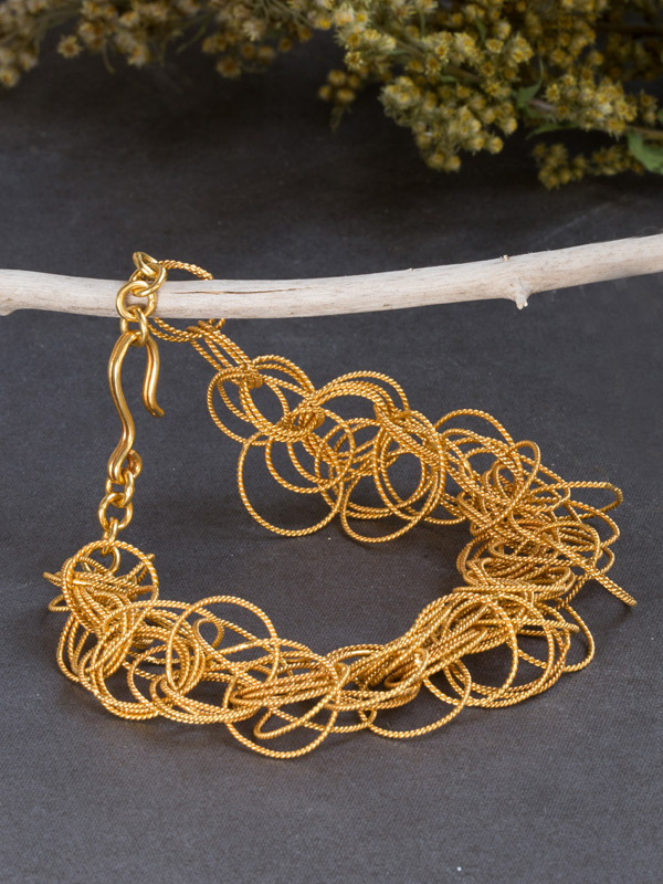 Golden Tangle Bracelet
