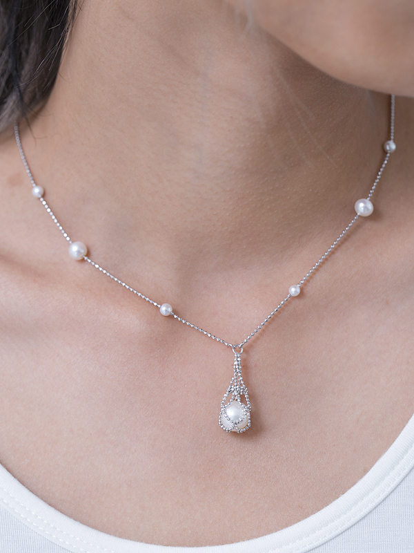 Pearl Sling Necklace