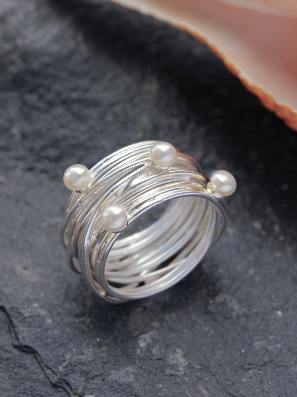 Pearl Cable Ring