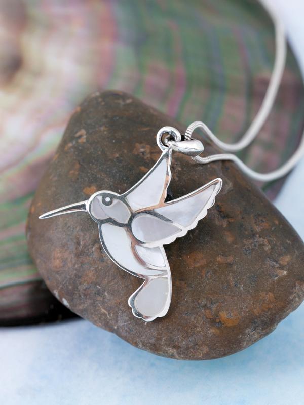 Pearl Hummingbird Pendant