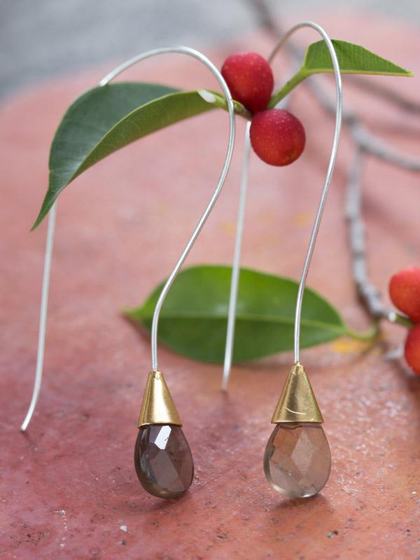 Facet Drop Earrings
