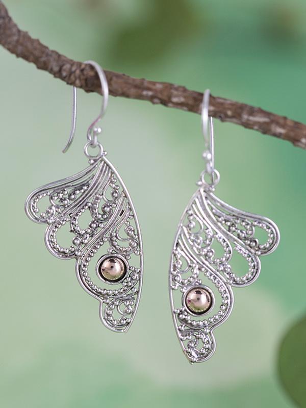 Filigree Wing Earrings