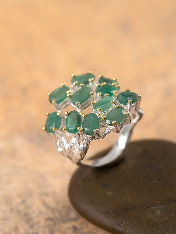 Emerald Bouquet Ring