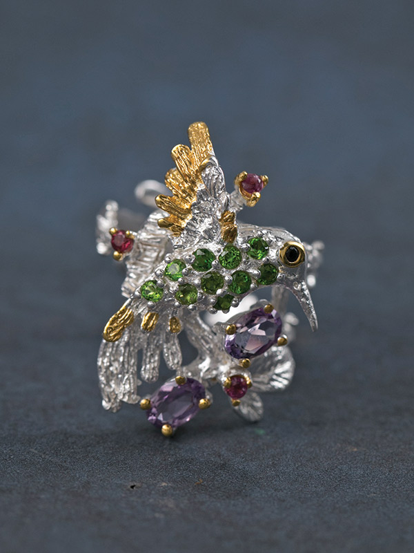Gem Hummingbird Ring