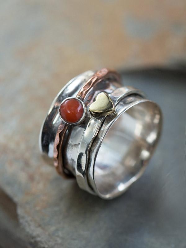 Spinning Heart Ring