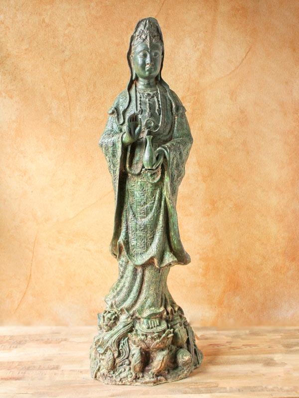 Kuan Yin Standing Lotus